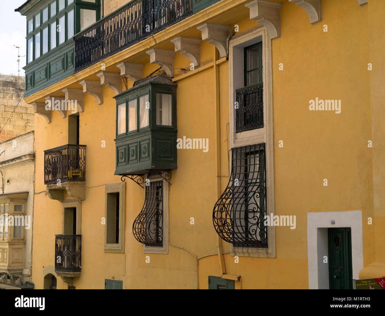 Traditional maltese balconies stock photos traditional for Traditional balconies