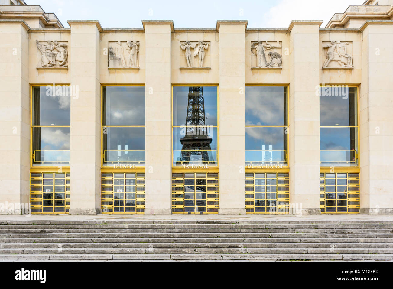 Grand Foyer Chaillot : Art deco architecture france stock photos