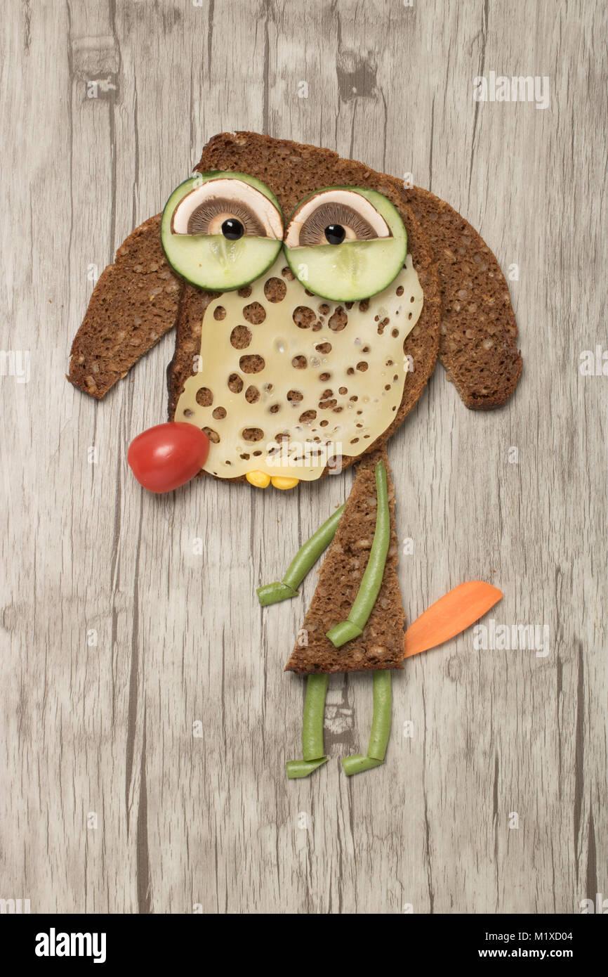 Dog Face Covered Food