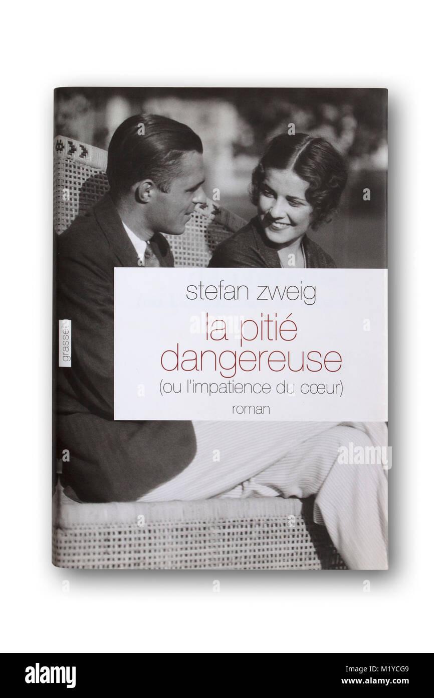 'La Pitié dangereuse' ('Entitled 'Beware of Pity' in English) 1939 novel by Stefan Zweig - Stock Image