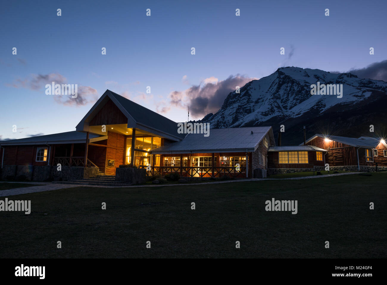 Hotel Las Torres, in Torres del Paine National Park, Chile - Stock Image