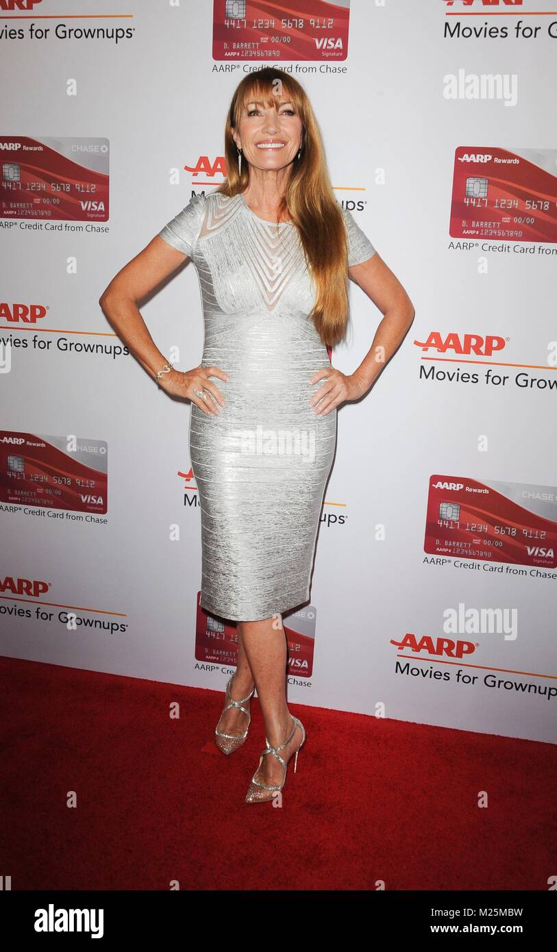 Beverly Hills, CA. 5th Feb, 2018. Jane Seymour at arrivals for AARP The Magazine's 17th Annual Movies For Grownups - Stock Image