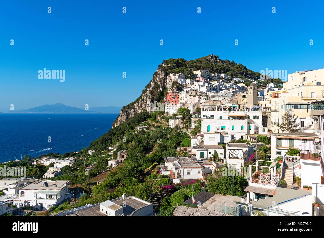 the island of capri in the bay of naples, campania, italy, - Stock Image
