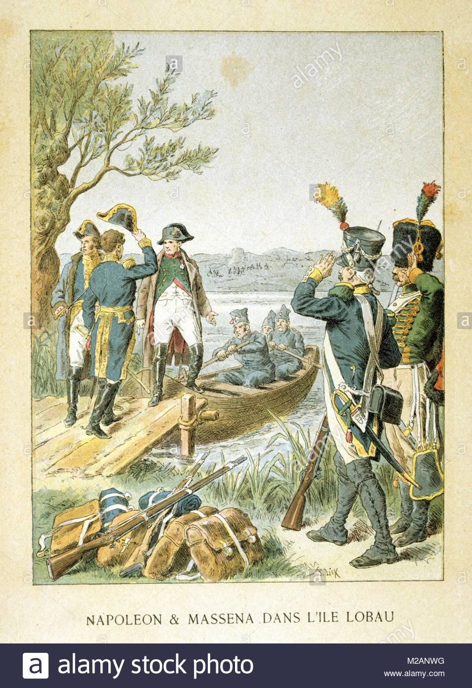 Napoleon's campaign of 1809 - Stock Image