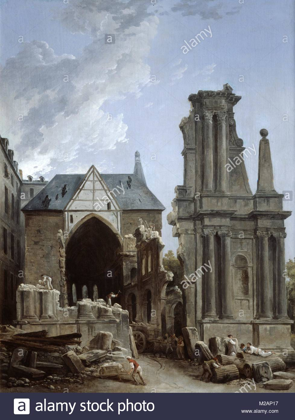 The Demolition of the Church of the Feuillants - Stock Image