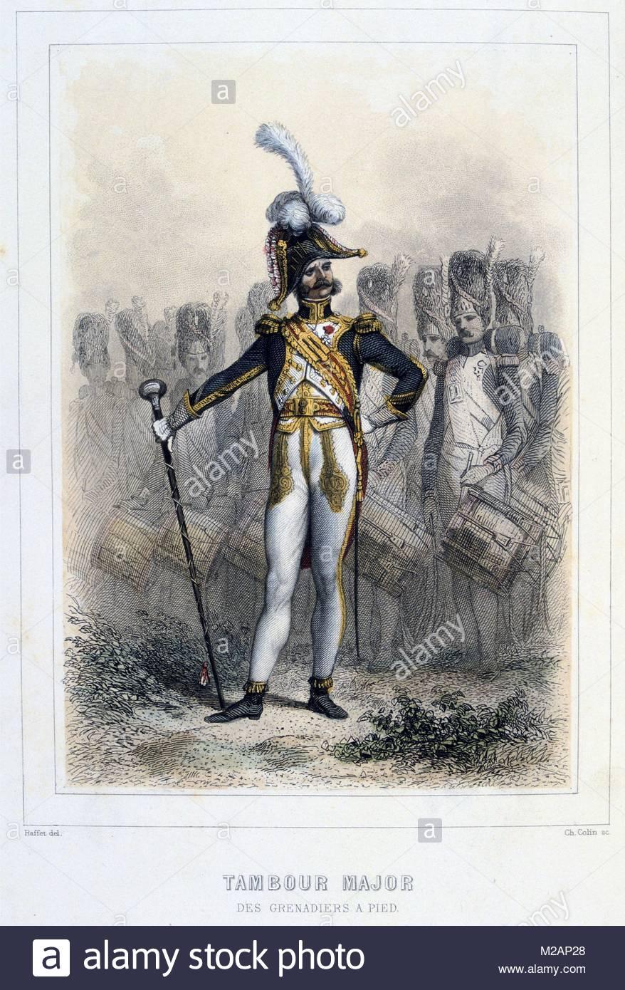 Drum Major of the Foot Grenadiers - Stock Image