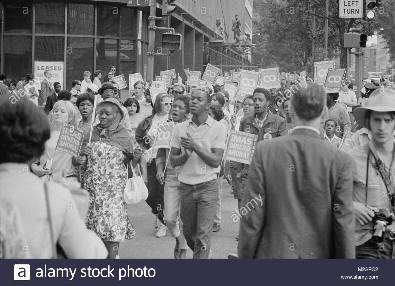 Poor People's March at Lafayette Park and on Connecticut Avenue - Stock Image