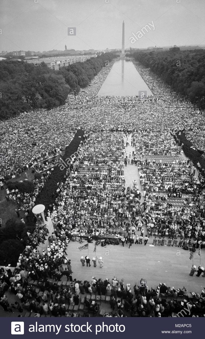Crowds on The Mall - Stock Image