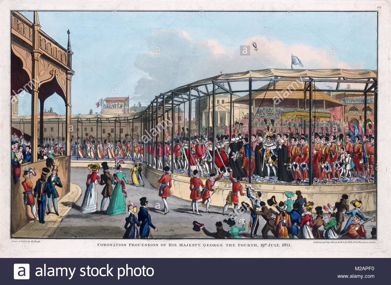 Coronation procession of George IV - Stock Image