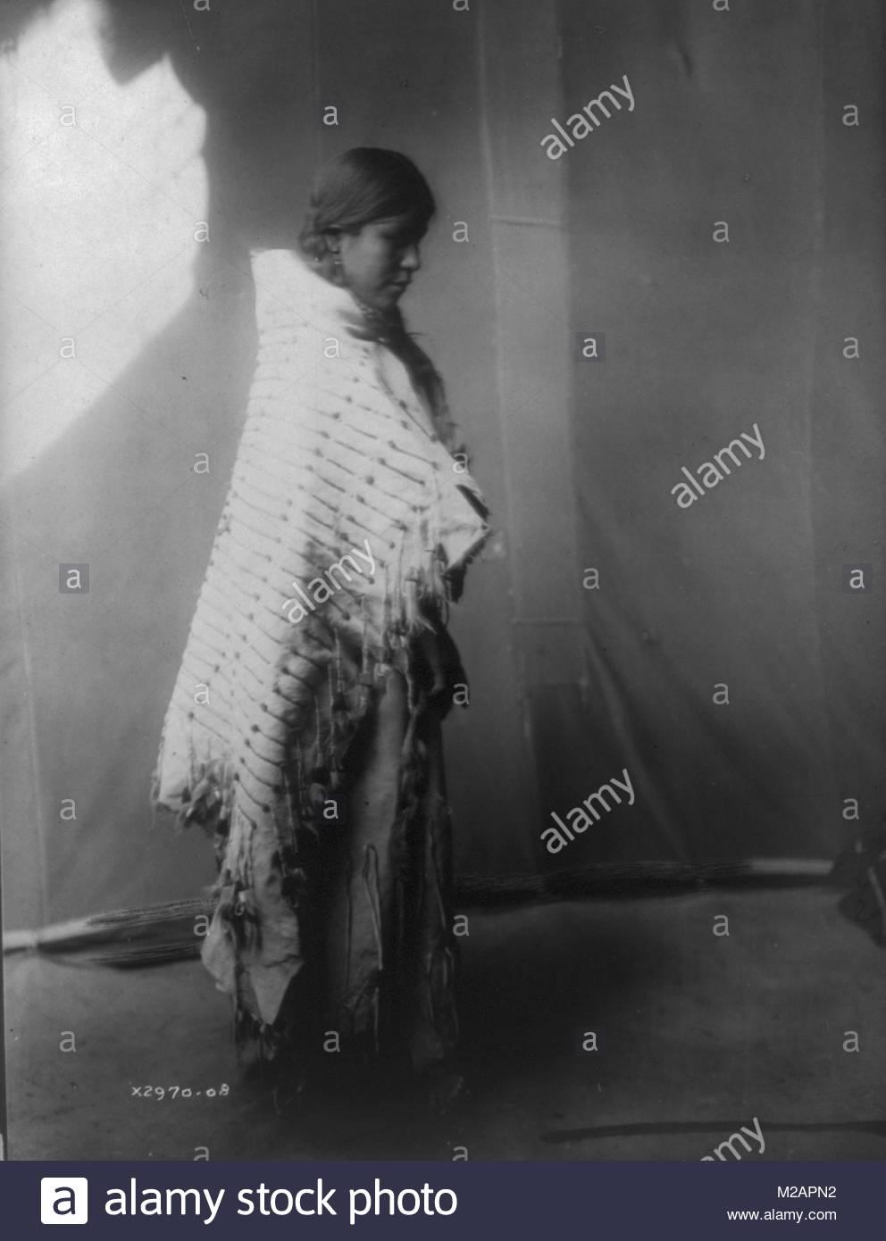 North American Native Atsina woman - Stock Image