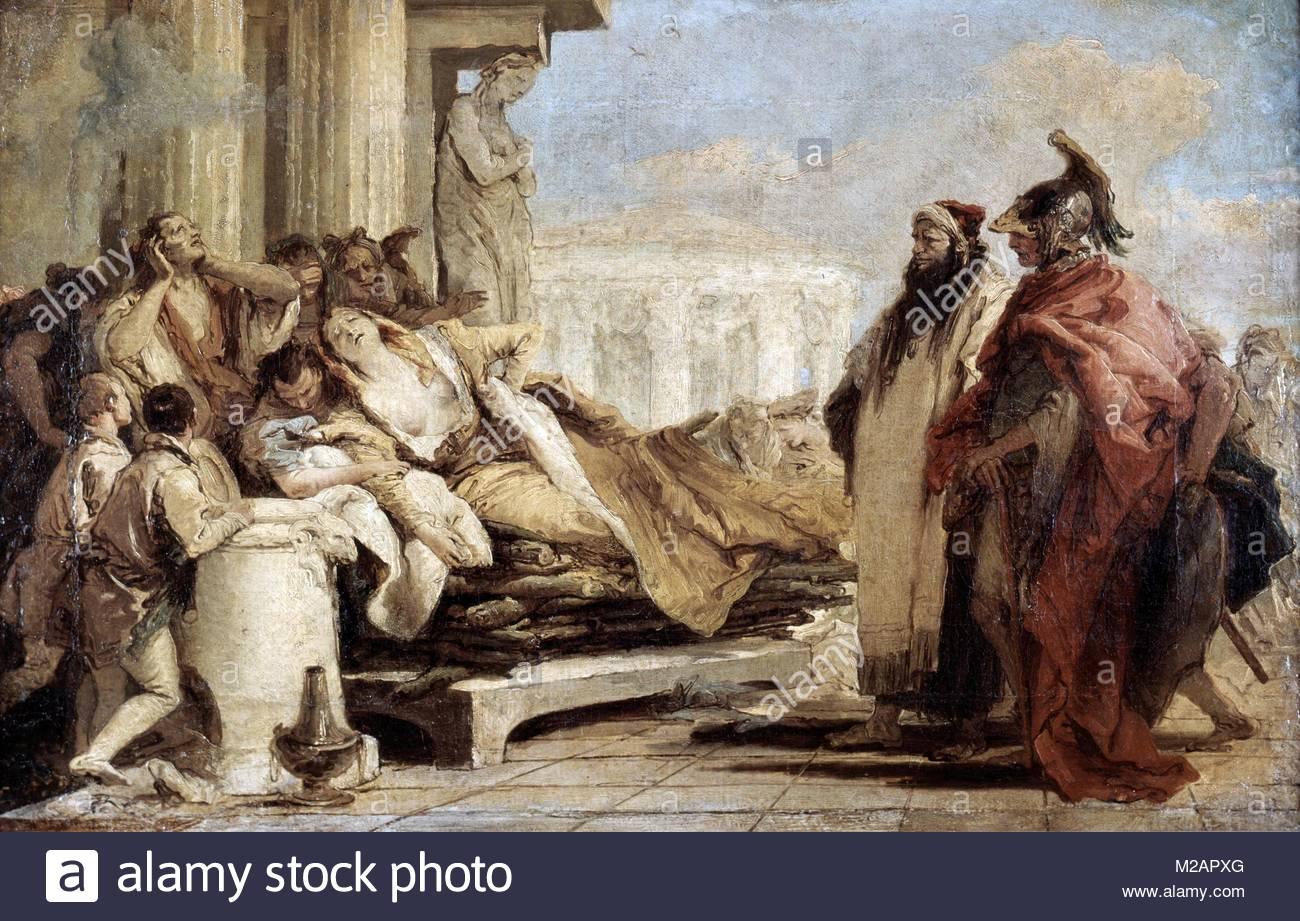 The Death of Dido' Giovanni Battista - Stock Image