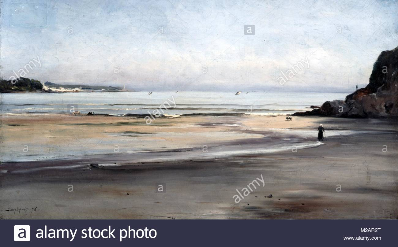 Douarnenez:  Brittany' - Tide Coming In - Sunday Morning' - Stock Image