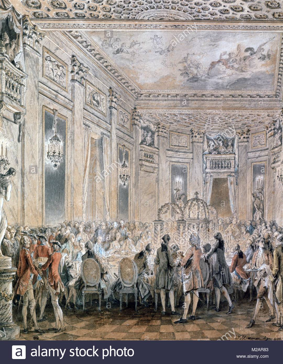 Fetes at Louveciennes, 1771 - Stock Image