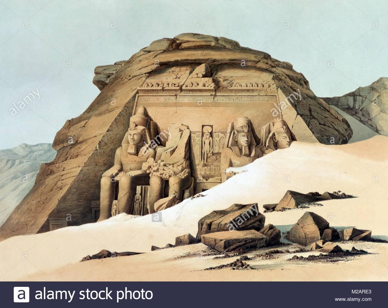 Rock Temple at Abu Simbel' - Stock Image
