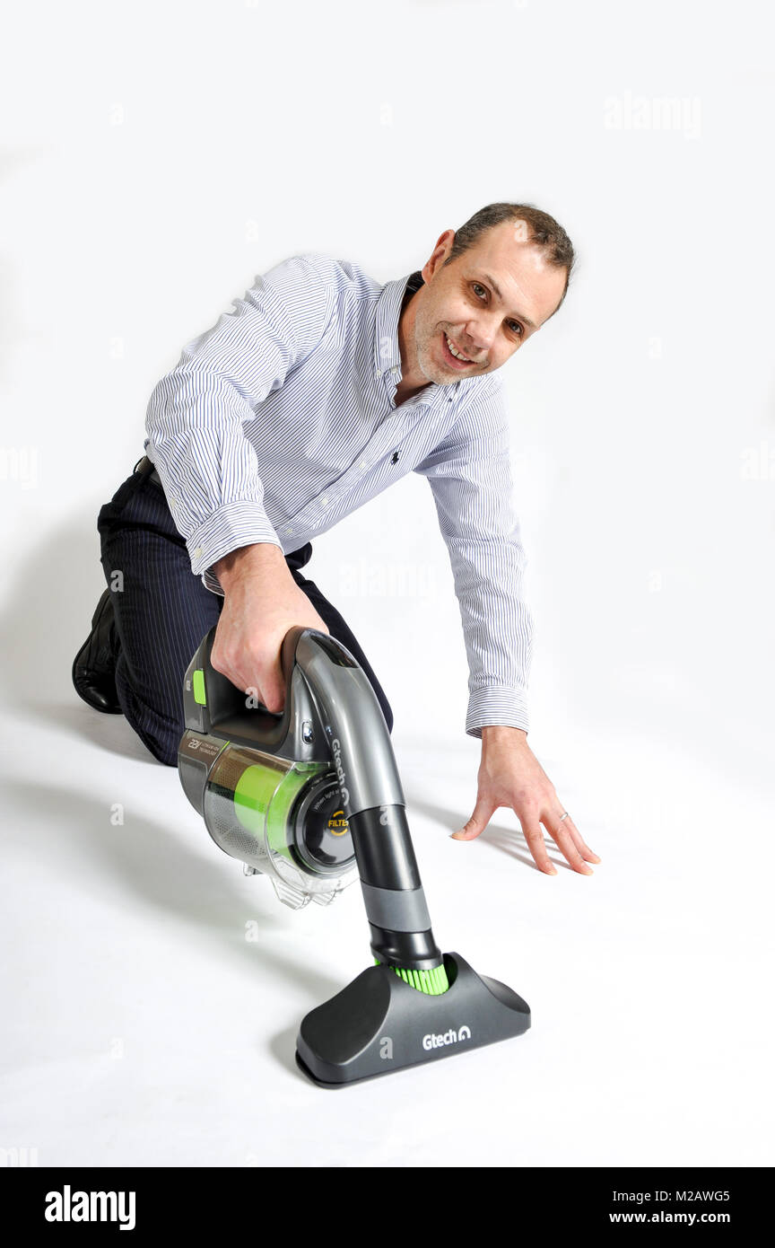 Nick Grey inventor and founder of Gtech, Greys Tecnology Ltd. It is an independent British design and manufacturing - Stock Image