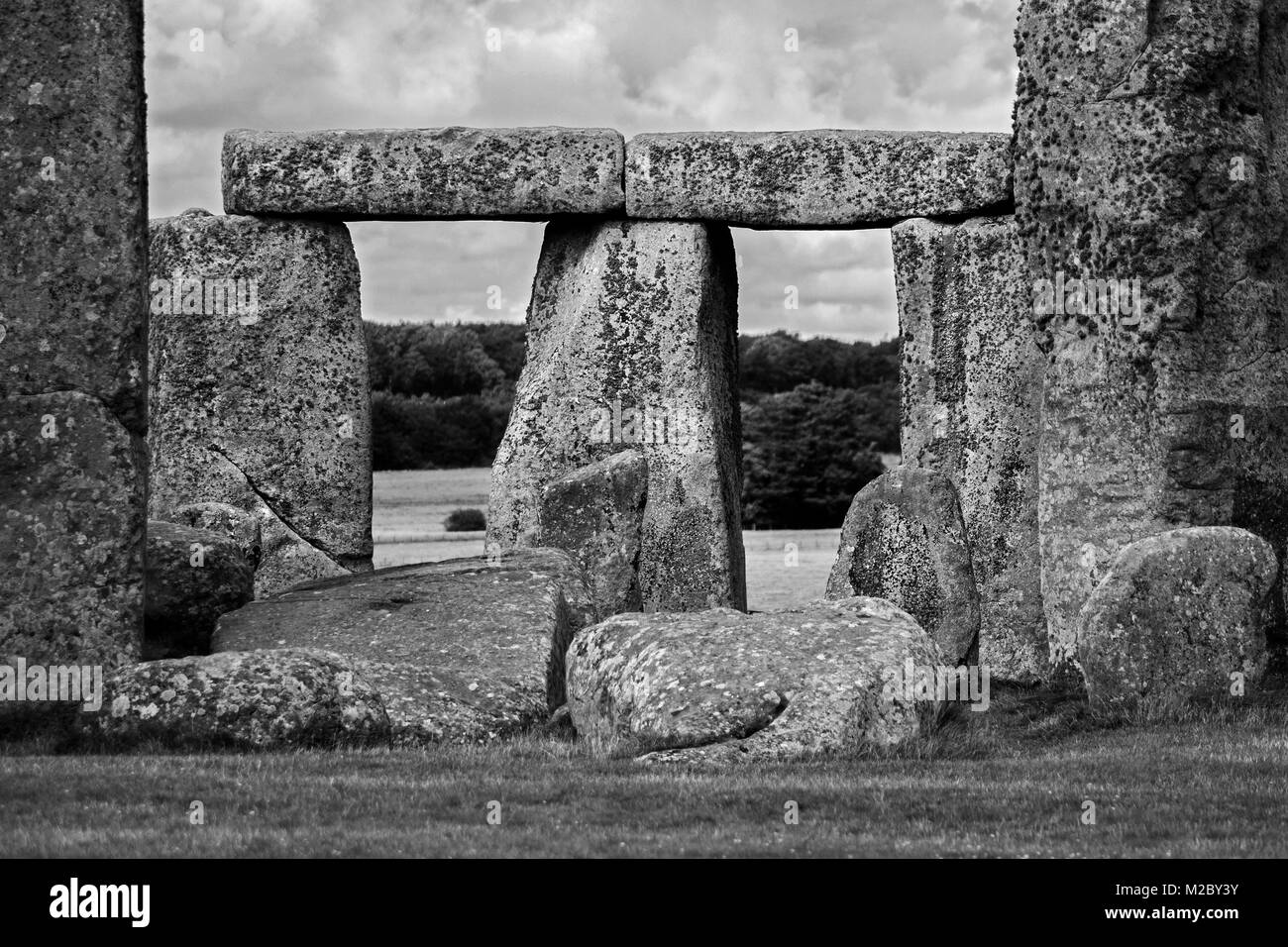 stonehenge a prehistoric monument in wiltshire, england, britain, uk, - Stock Image