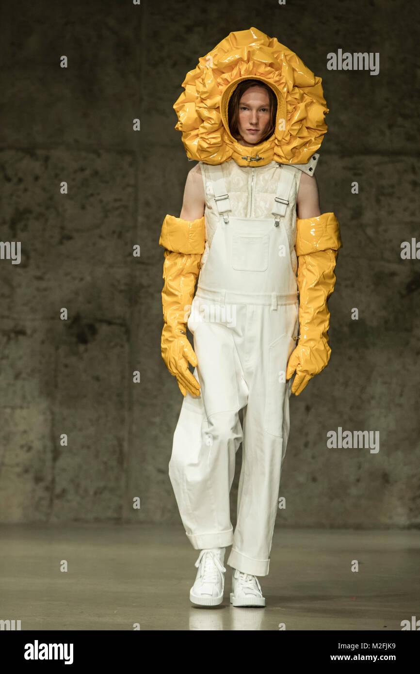 7th February 2018 - New York,USA - Chen Peng Fall Winter 2018 at New York Fashion Week Mens . Photo Credit: Rudy - Stock Image