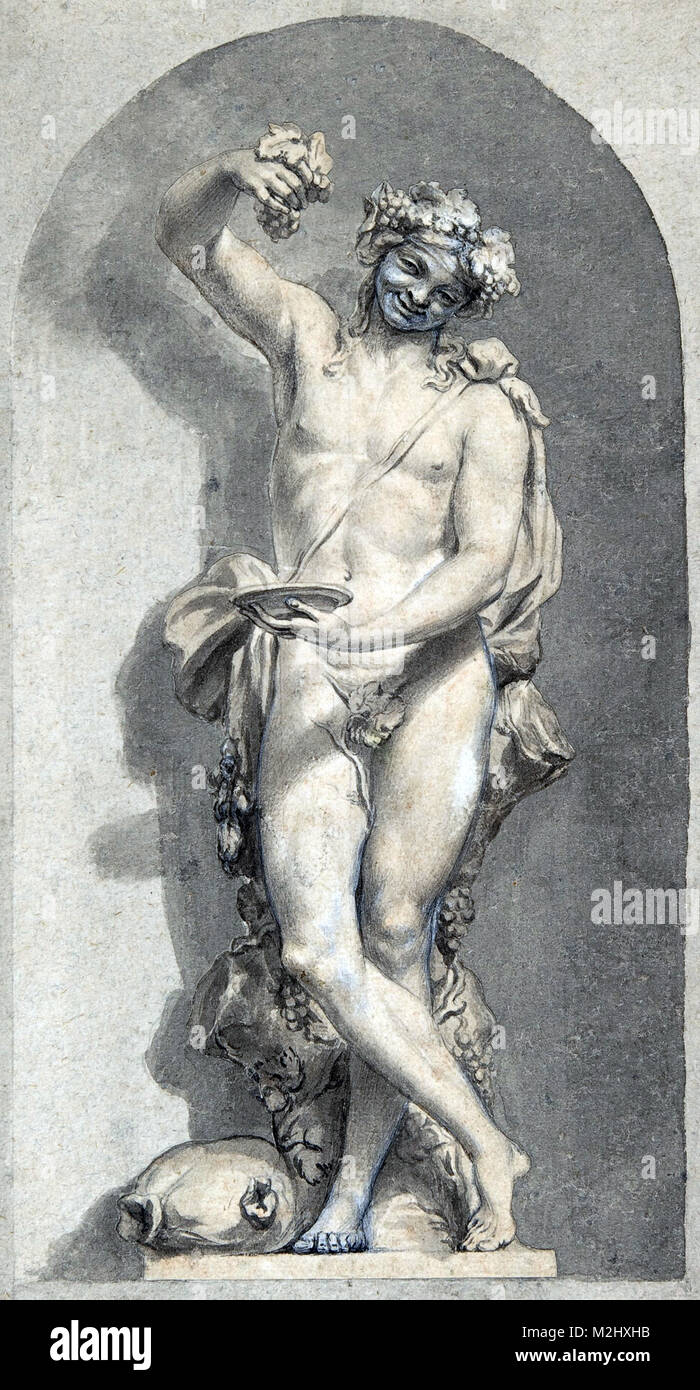 Bacchus, Roman God of Wine - Stock Image
