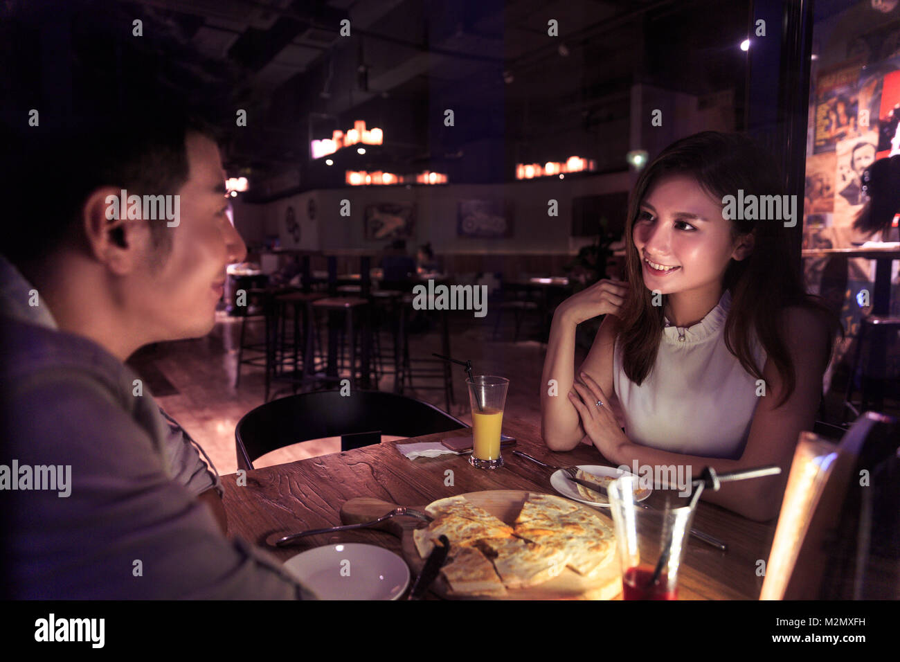 Night life for young couples - Stock Image