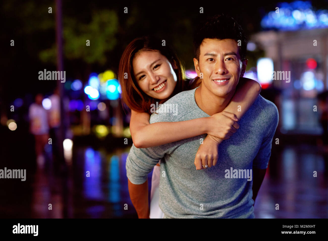 Young Lovers Dating - Stock Image
