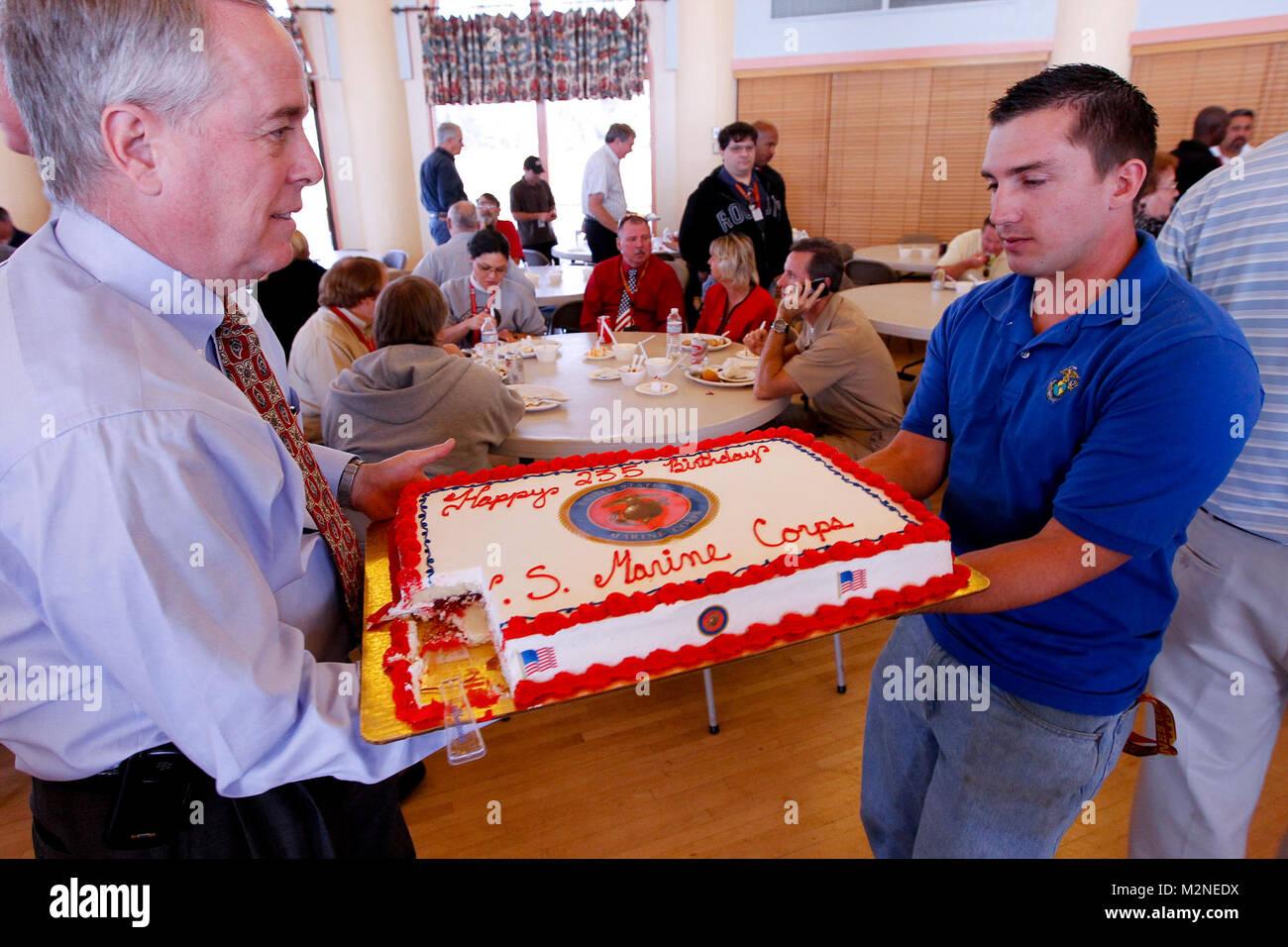 Navy Birthday Cake Cutting Ceremony Veterans Day