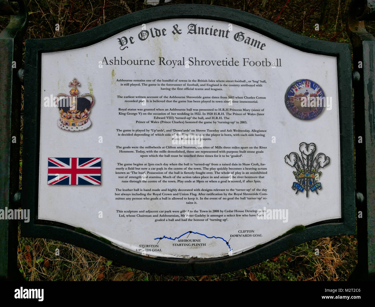 Ashbourne, UK. 8th February, 2018. Preparations start for the Ashbourne Royal Shrovetide Football match which takes - Stock Image