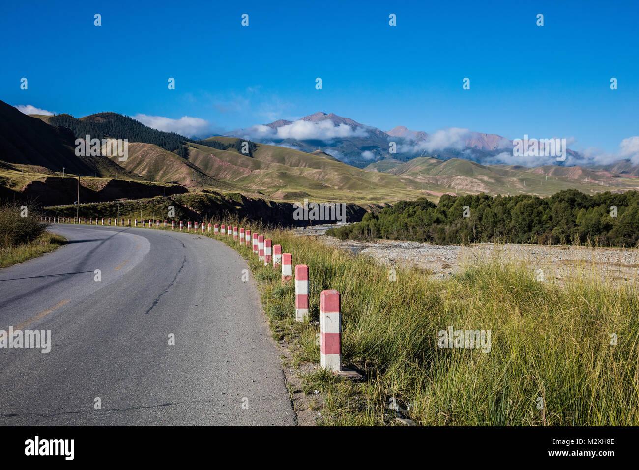 Danxia Geopark, Zhangye, Gansu - Stock Image
