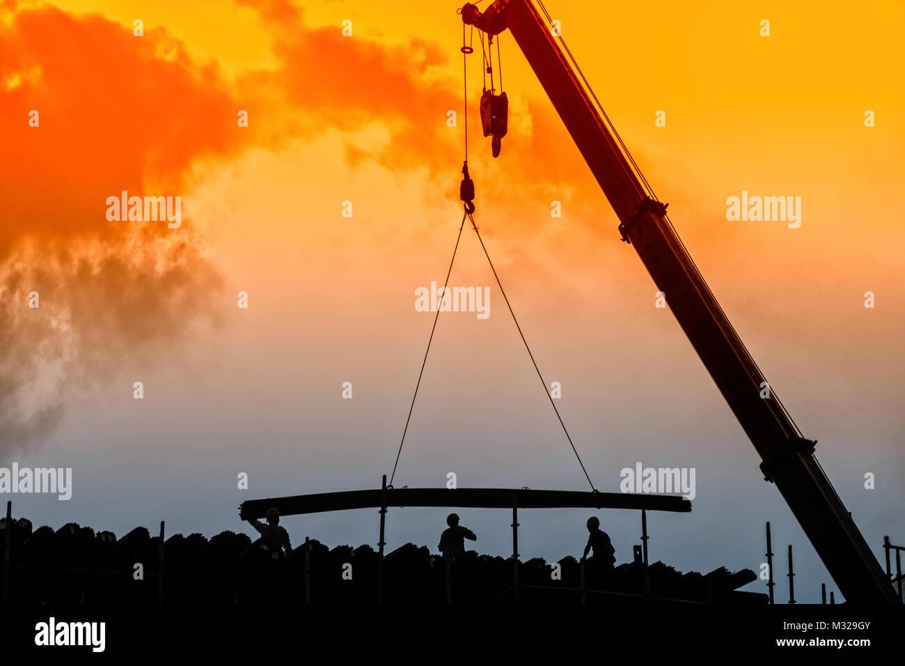 Construction site in Jiangjin District, Chongqing - Stock Image