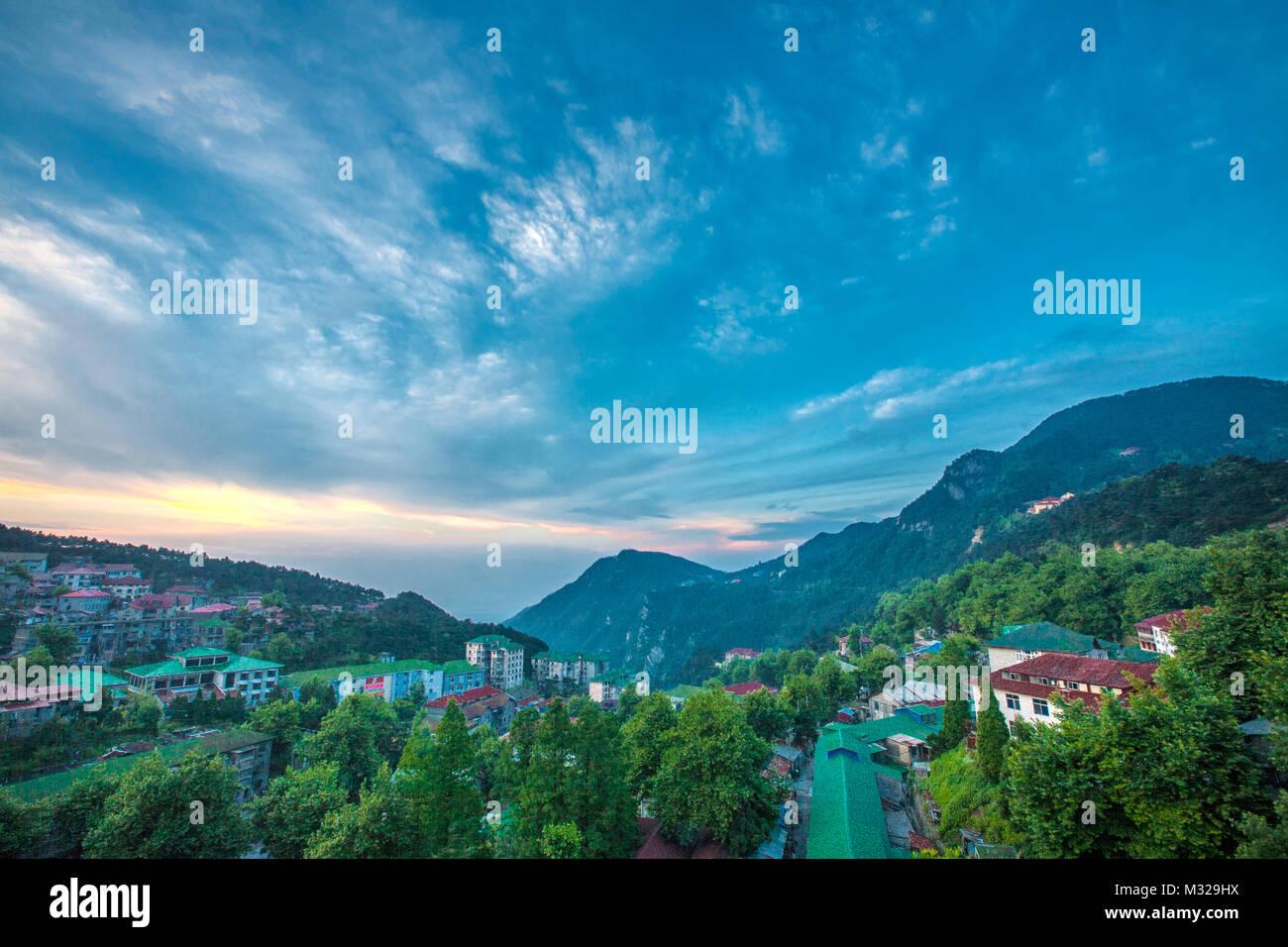Mount Lu in Jiangxi, Jiujiang - Stock Image