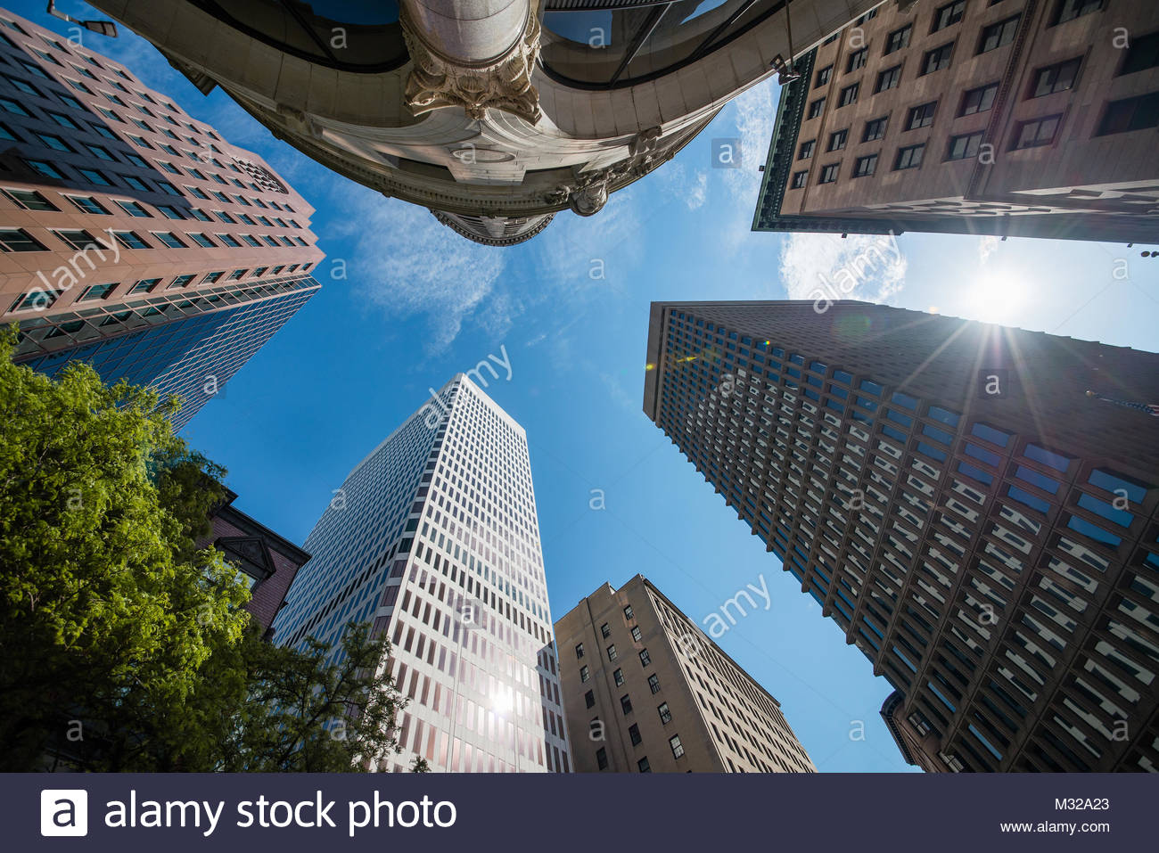 Architectural landscape of Rhodes Island, Providence, USA - Stock Image