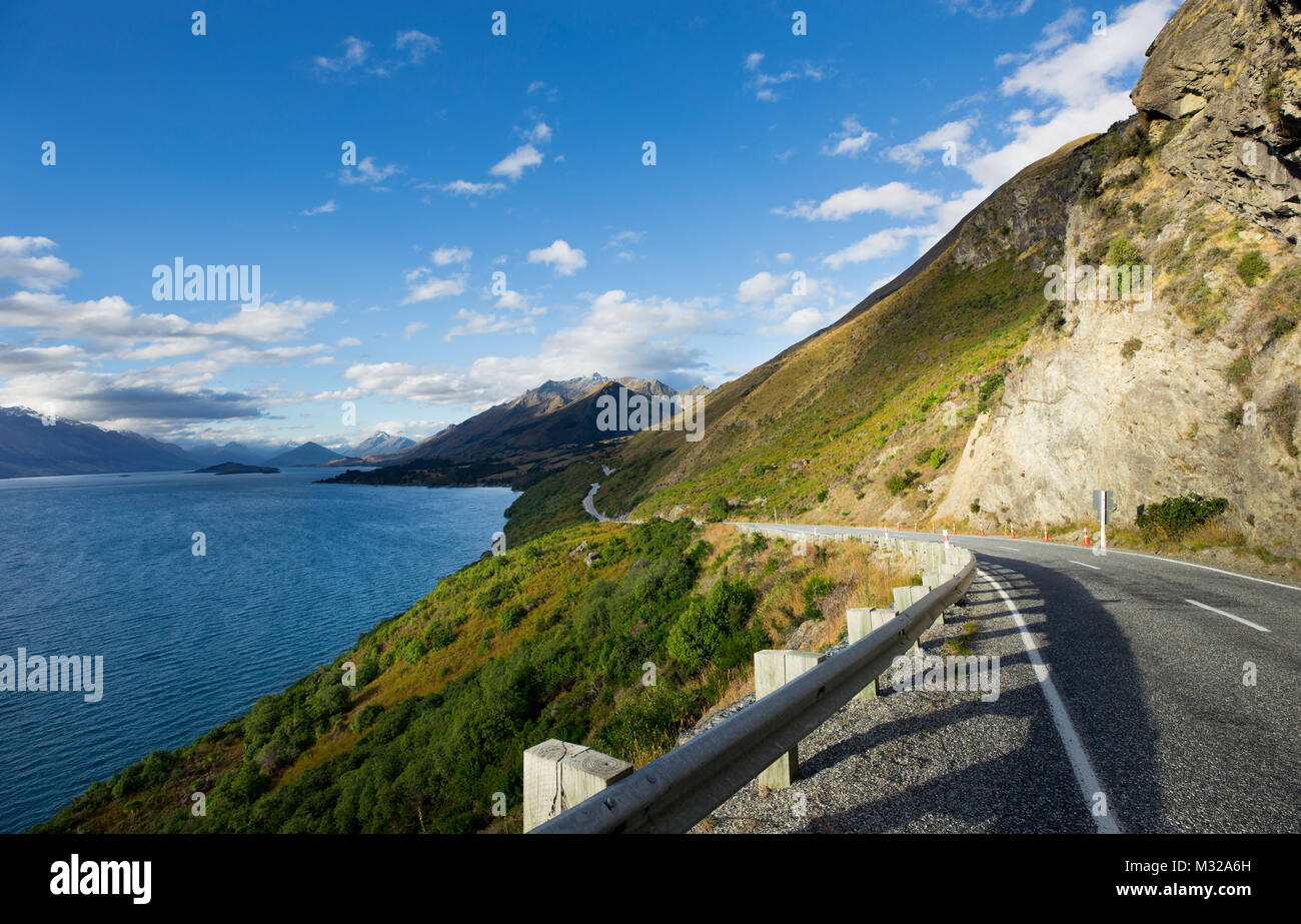 New Zealand South Island scenery - Queenstown - Stock Image