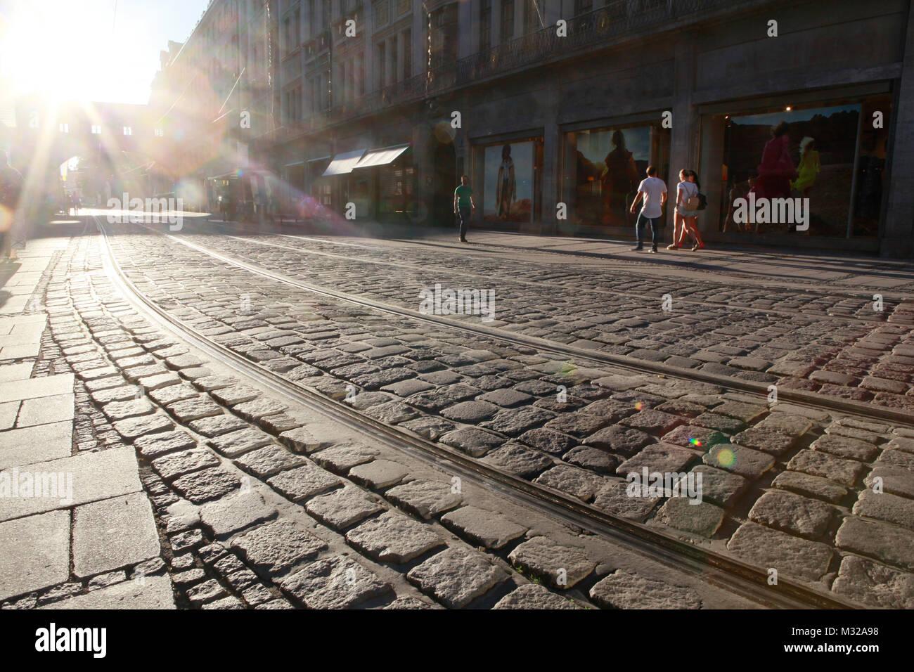 Prague, the capital of Czech - Stock Image
