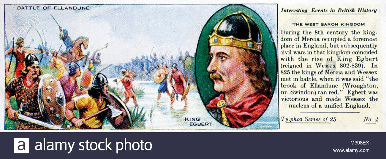 Interesting Events in British History - The West Saxon Kingdom - Stock Image