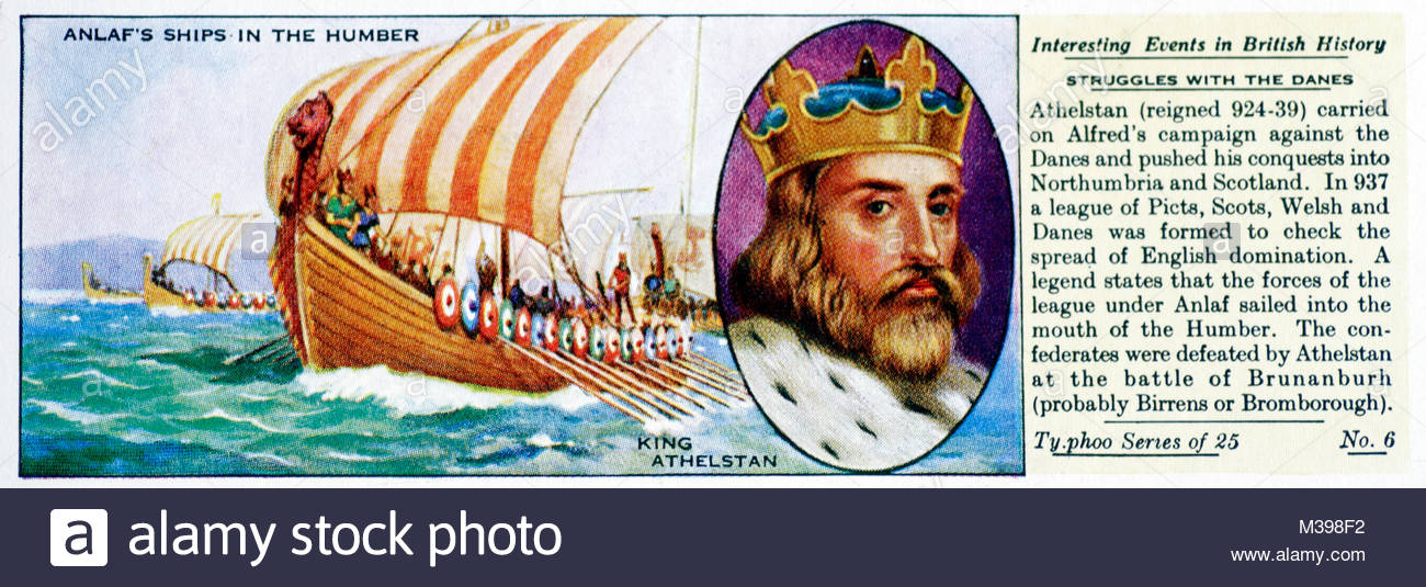 Interesting Events in British History - Struggles with the Danes - Stock Image