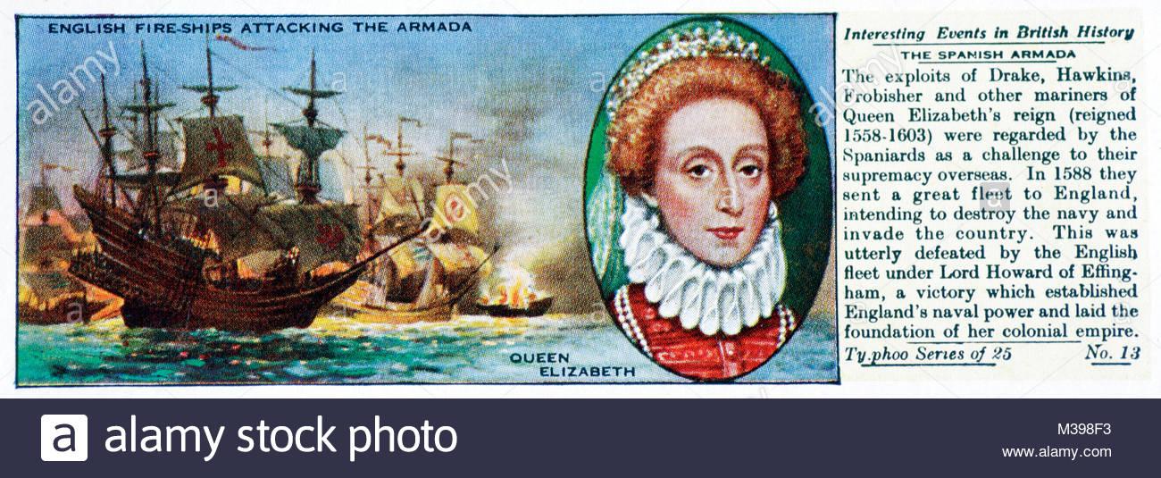 Interesting Events in British History - The Spanish Armada - Stock Image