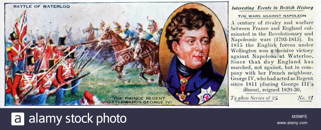 Interesting Events in British History - Battle of Waterloo - Stock Image