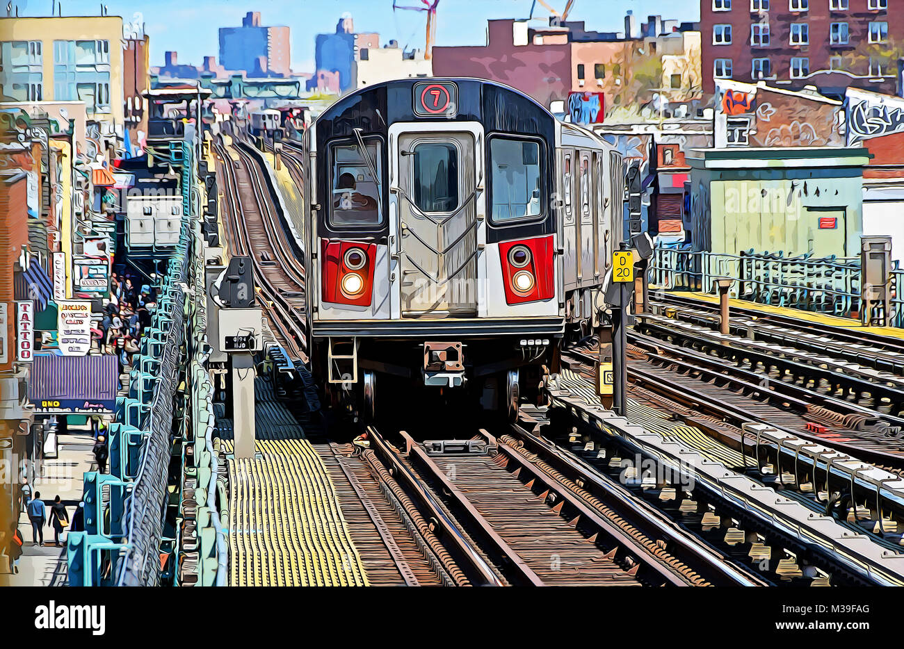 elevated train new york stock photos  u0026 elevated train new york stock images