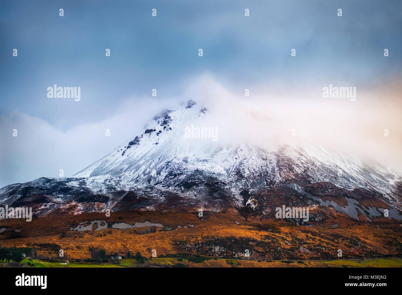 Mount Errigal in Ireland - Stock Image