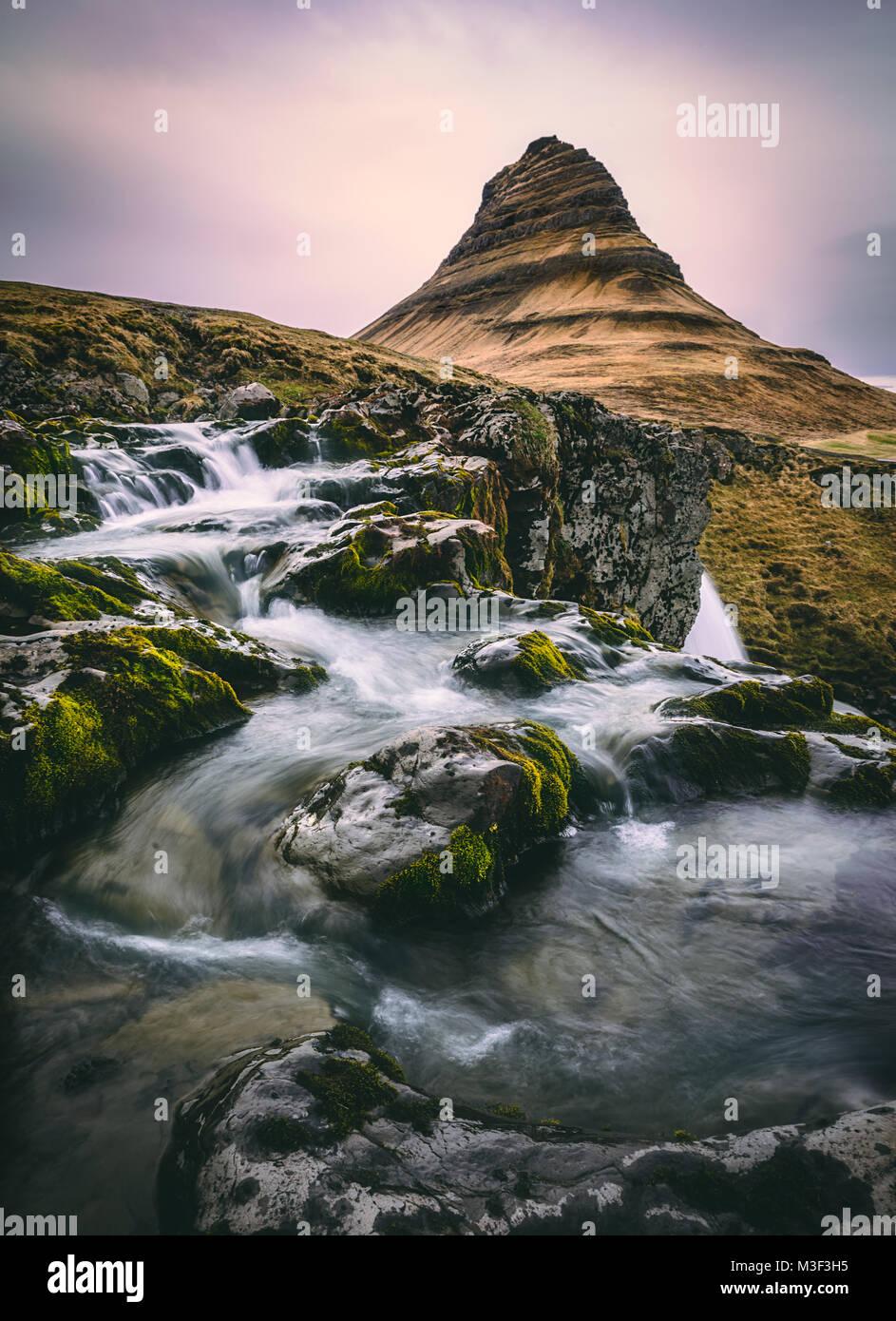 Kirkjufellsfoss - Iceland - Stock Image