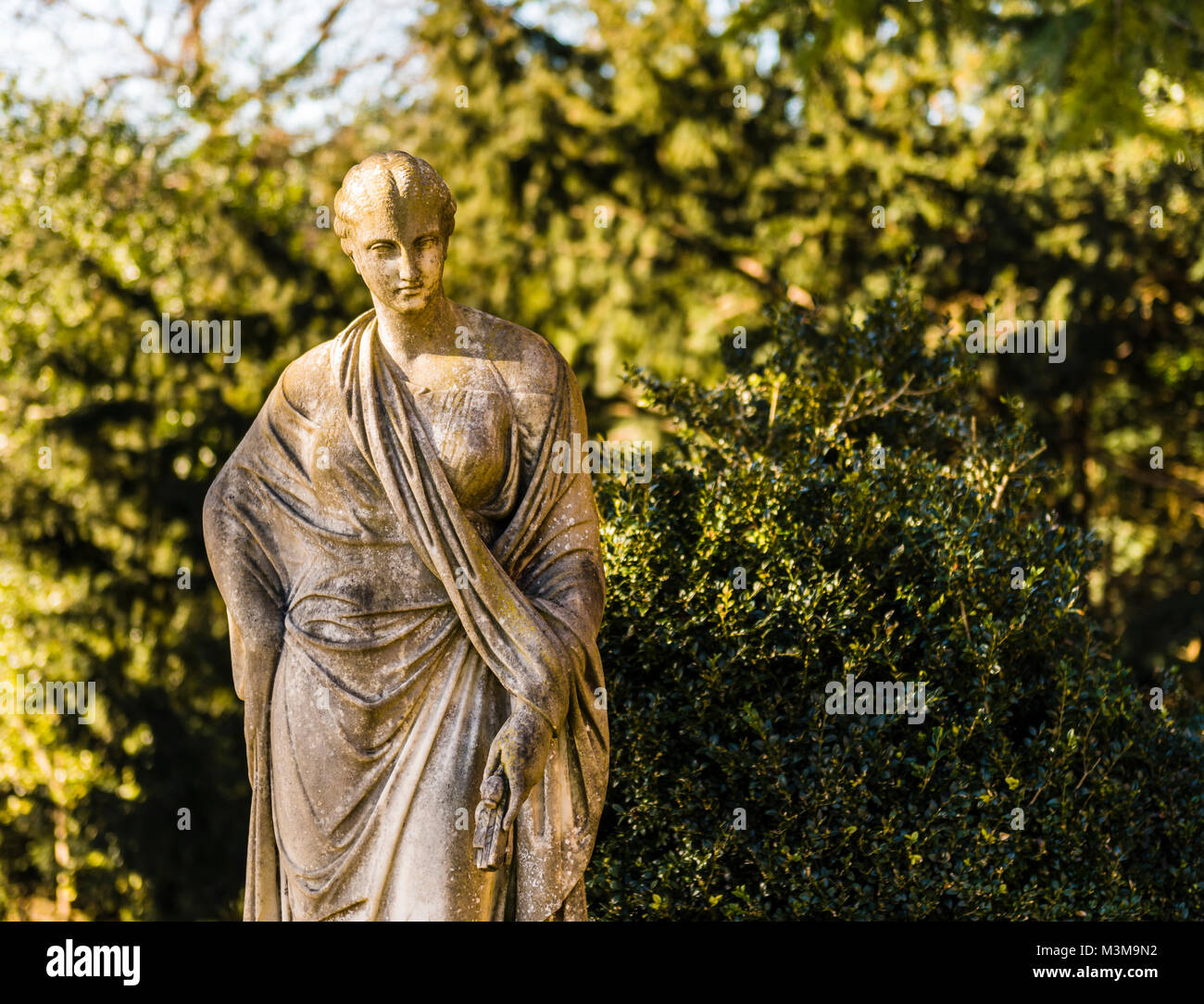 Stone statue of female figure at Hughenden, Buckinghamshire, UK - Stock Image