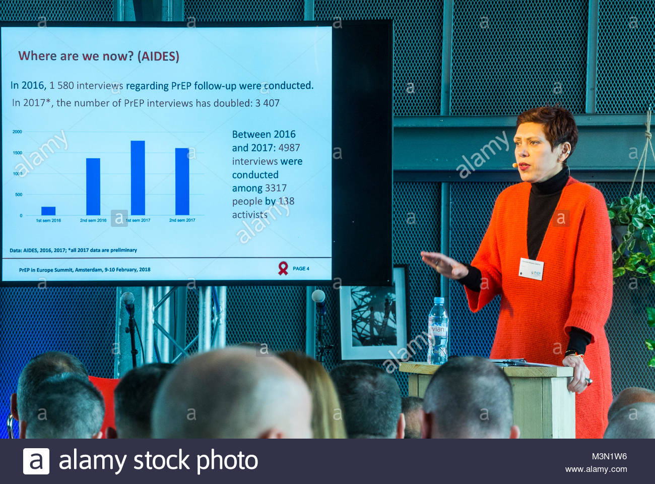 Amsterdam, Holland, PrEP in Europe Summit 2018, Daniela Rojas Castro, Science Researcher , Coalition Plus - Stock Image