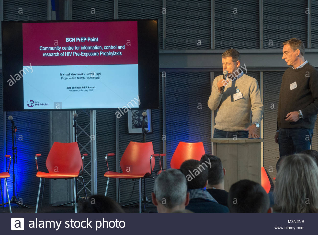 Amsterdam, Holland, PrEP in Europe Summit 2018, Michael Meulbroek - Stock Image