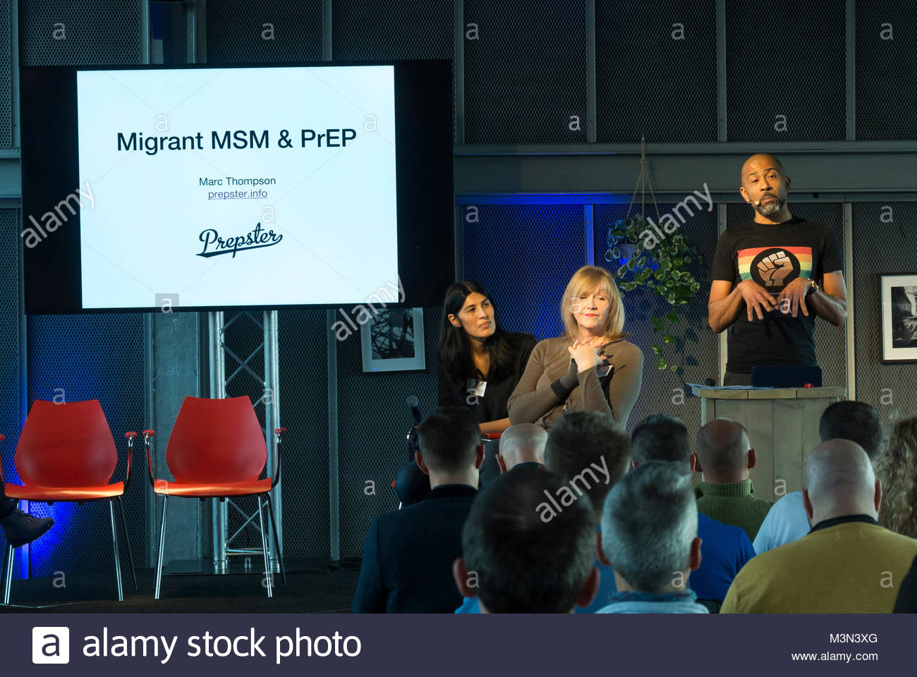 Amsterdam, Holland, PrEP in Europe Summit 2018, Marc Thompson - Stock Image