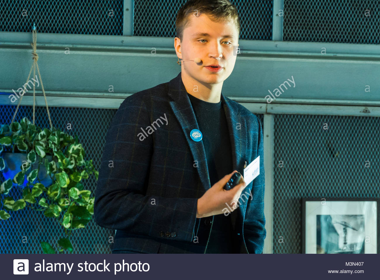 Amsterdam, Holland, PrEP in Europe Summit 2018, Nicolas Lunchenkov, Russian Doctor - Stock Image