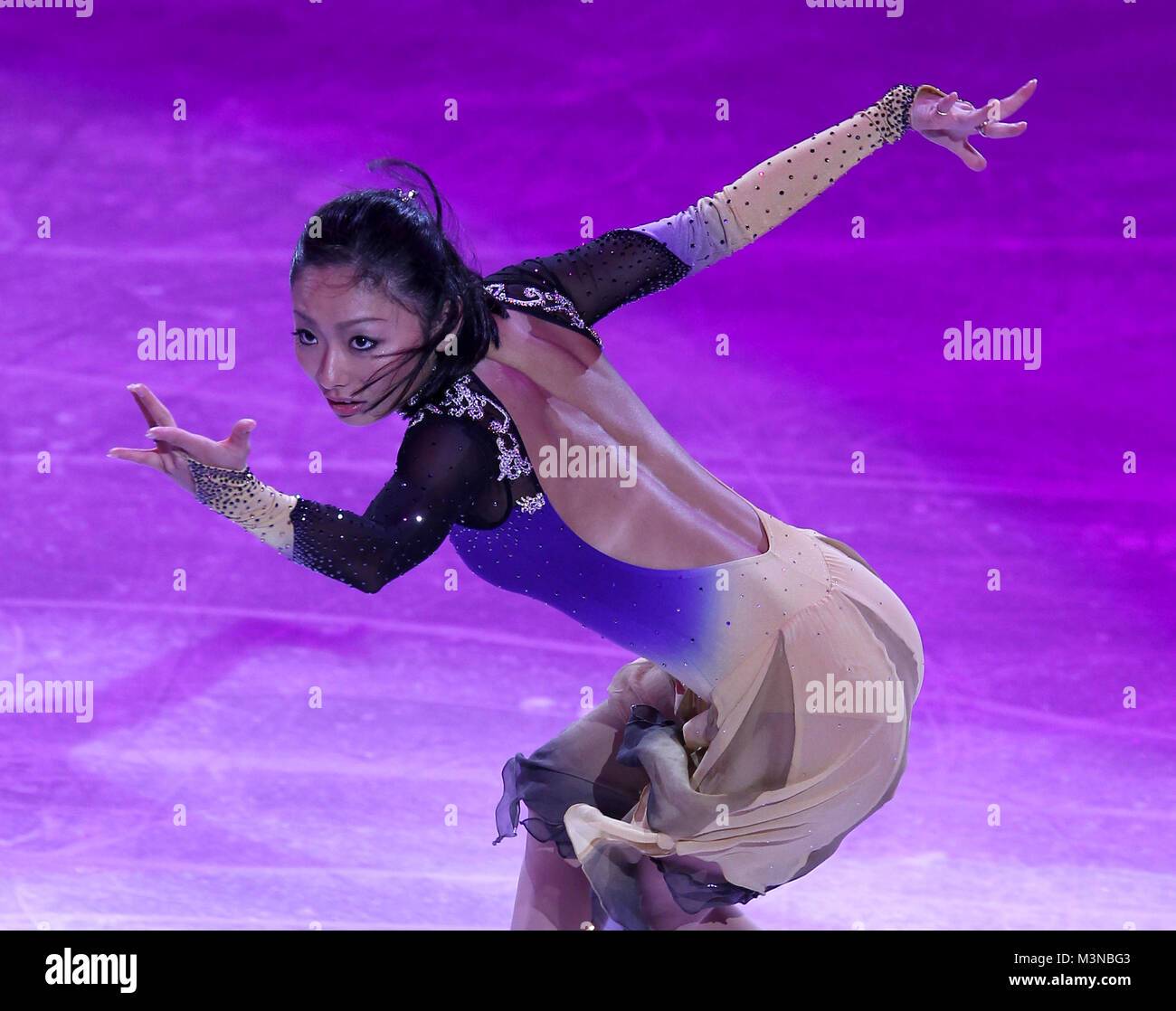 Miki Ando of Japan performs at the Pacific Coliseum during an exhibition to mark the end of the Figure Skating Competition - Stock Image