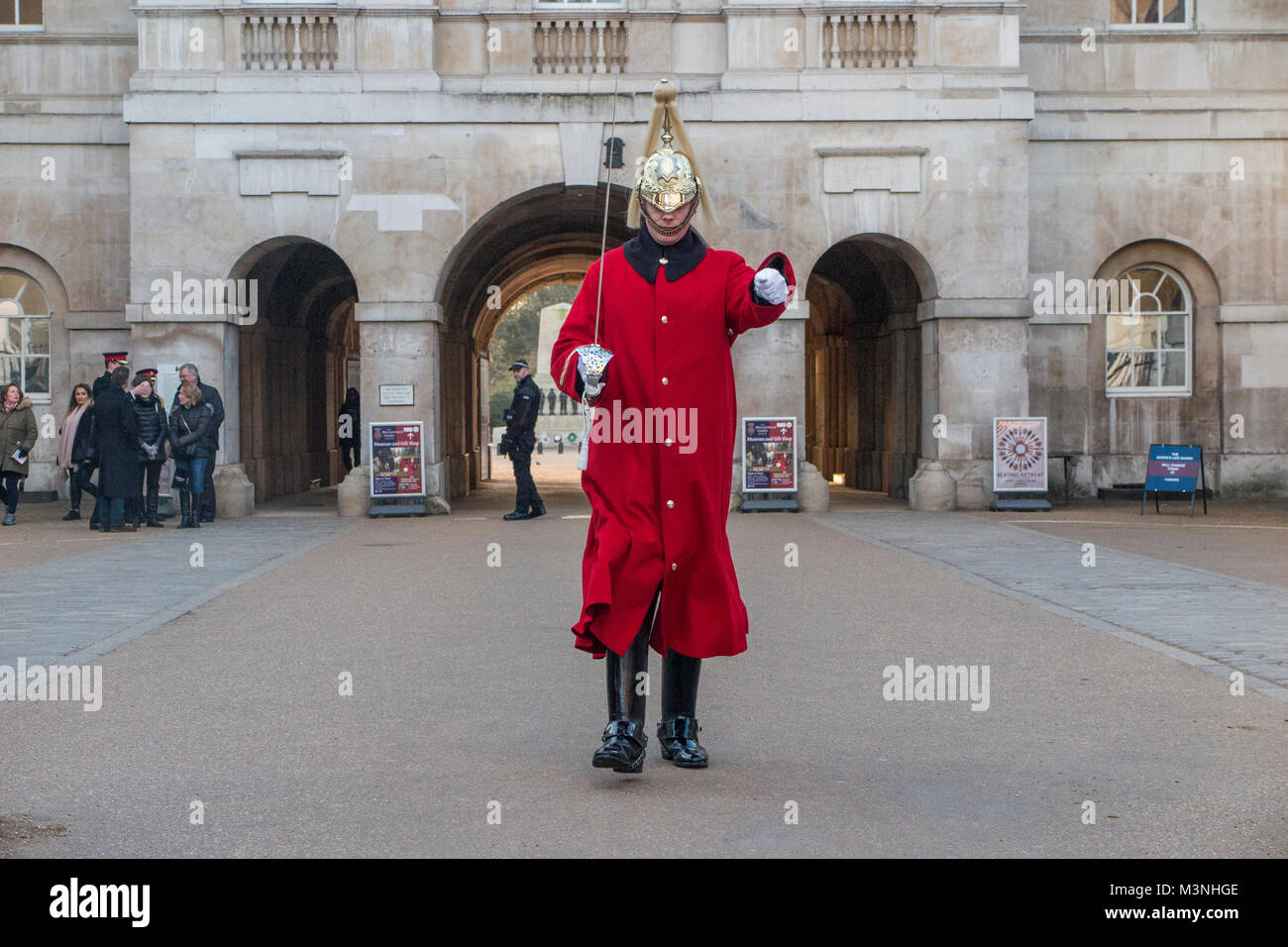 Horseguards on parade - Stock Image