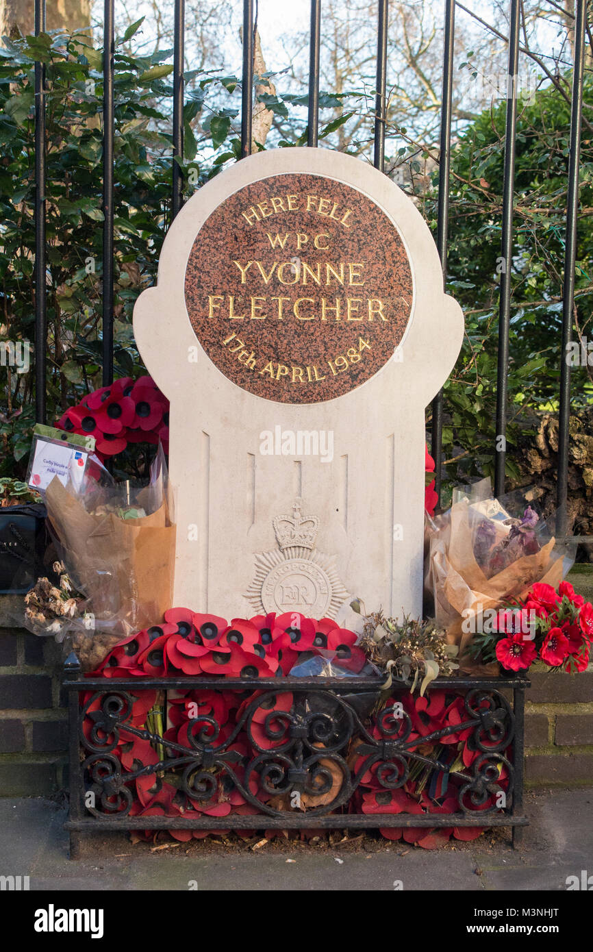 A memorial to Yvonne Fletcher in London - Stock Image