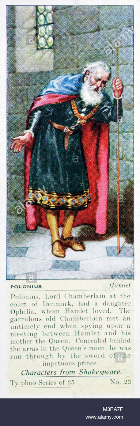 the character of polonius in hamlet by william shakespeare The previous scene introduced the characters of polonius and laertes  laertes  provides one of the comic interludes that shakespeare liked.