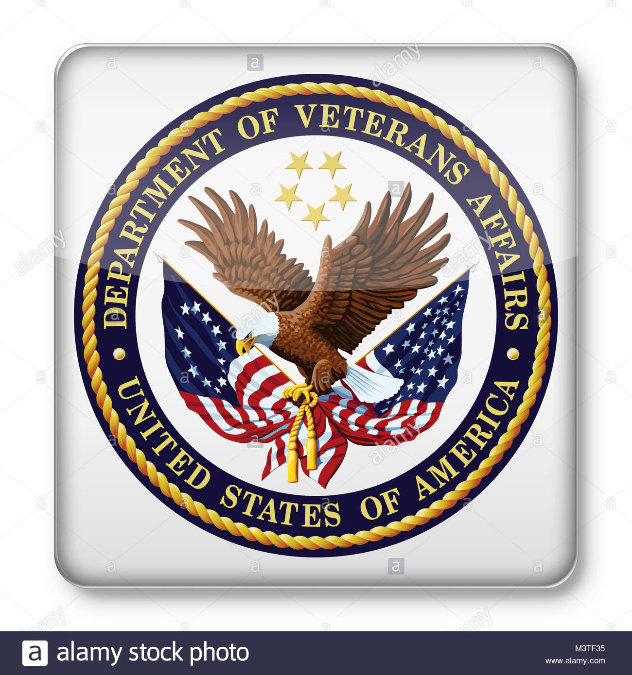 United States Department of Veterans Affairs VA logo icon - Stock Image