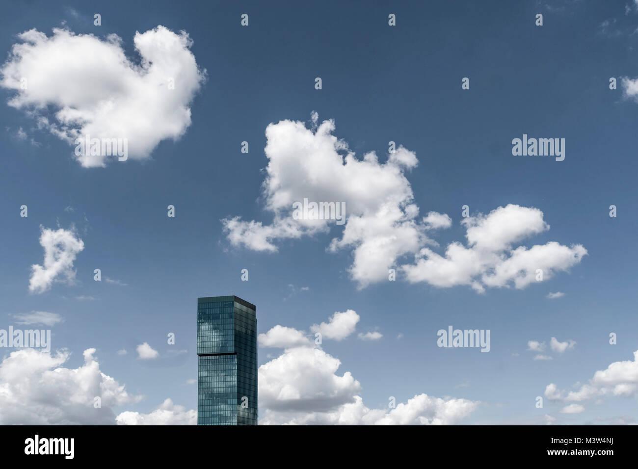 Prime Tower, department 5, modern office building, Zurich, Switzerland - Stock Image